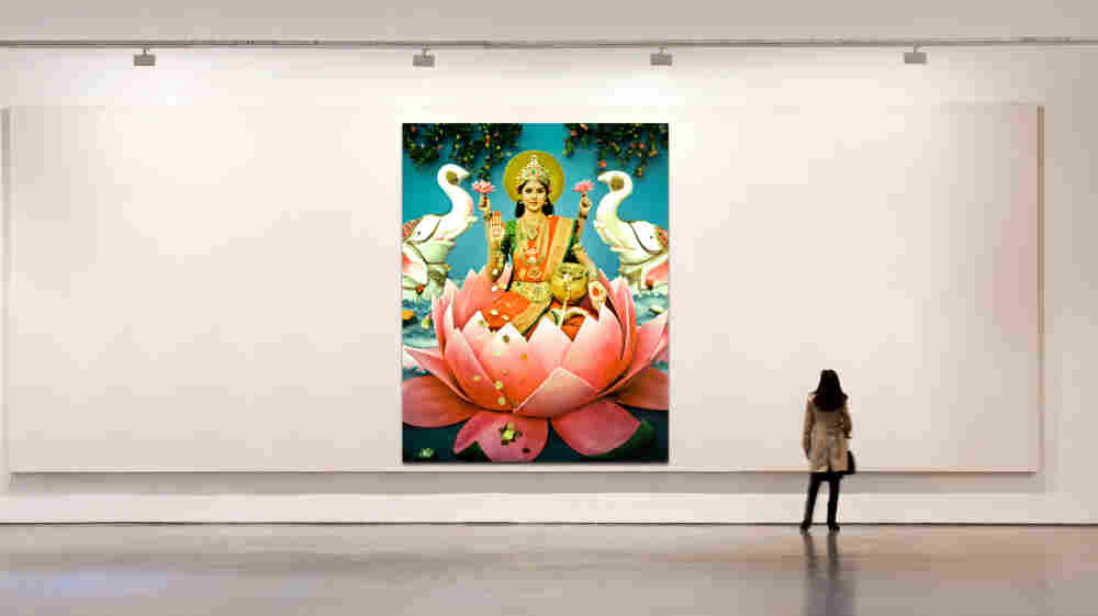 """""""I see Darshan displayed as an installation of 6-feet-tall prints,"""" she writes. """"An exhibit will be designed to evoke the experience of a Hindu temple."""""""
