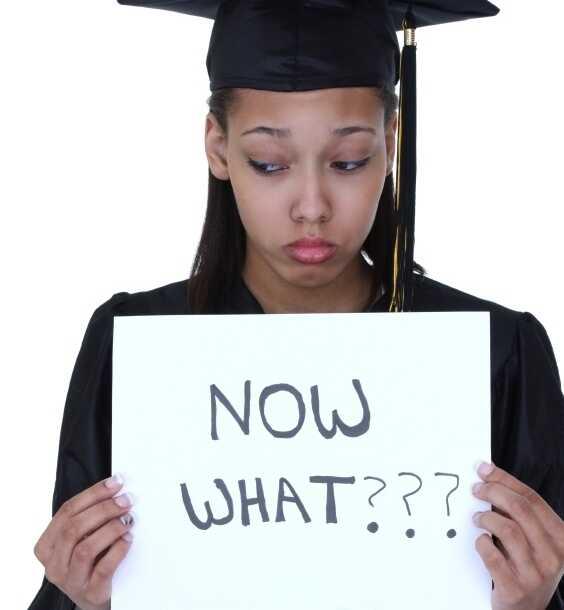 A sad graduate.