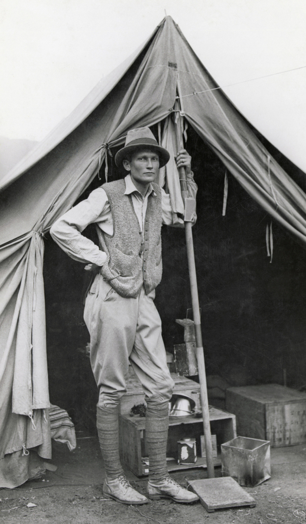 Explorer Hiram Bingham poses for a photo.
