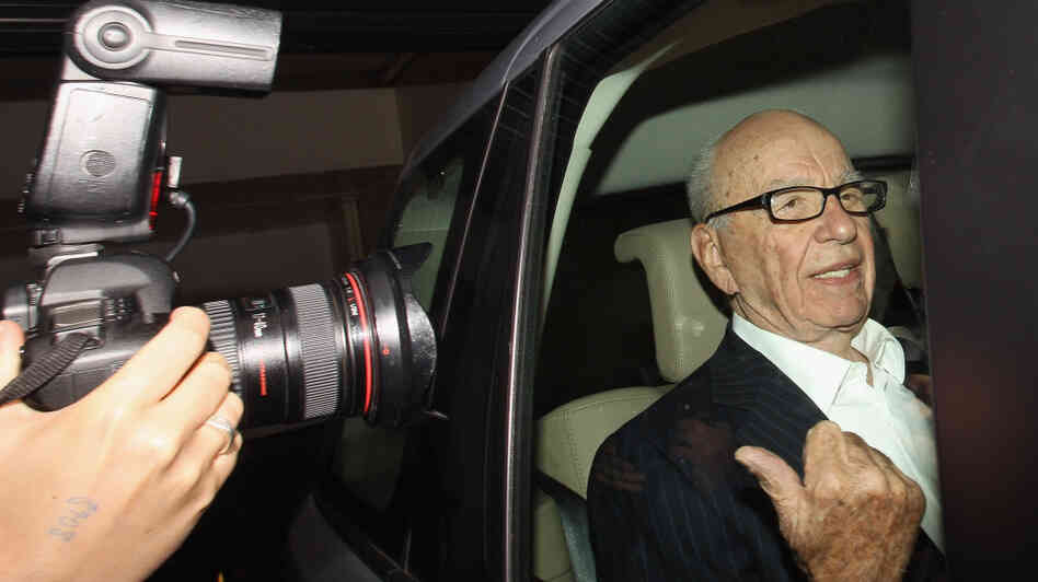 Rupert Murdoch as he left his apartment in London on Tuesday.