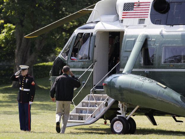 President Obama headed to Camp David, Saturday, July 9, 2011.