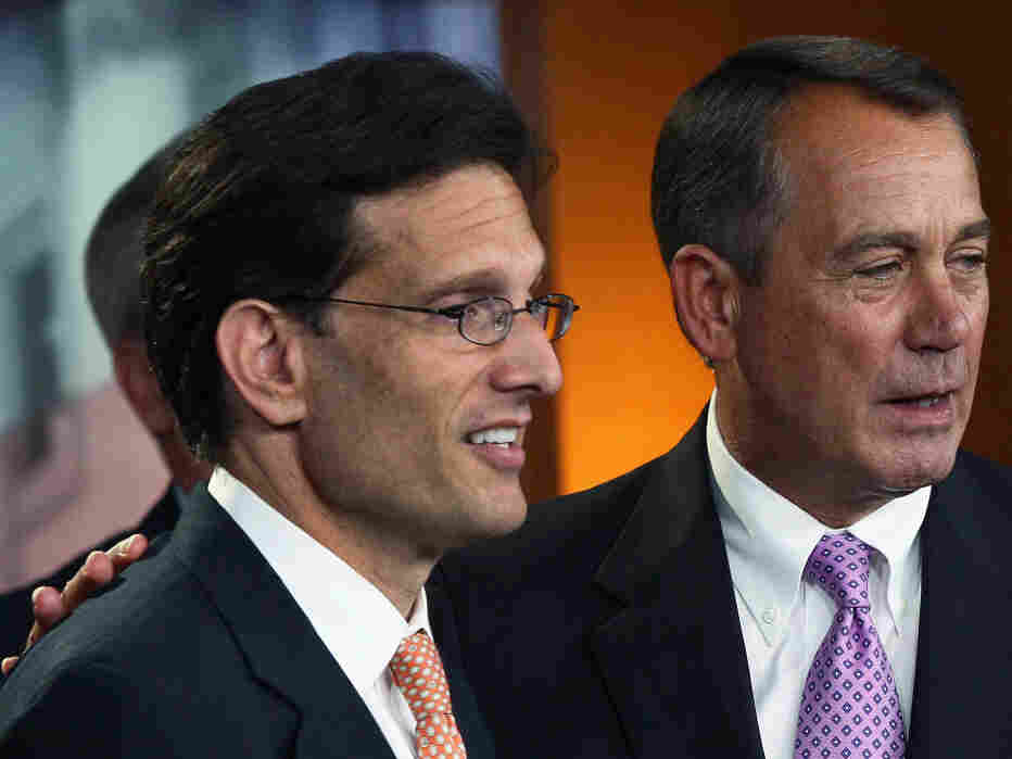 House Speaker John Boehner and Majority Leader Eric Cantor, Thursday, July 14, 2011.