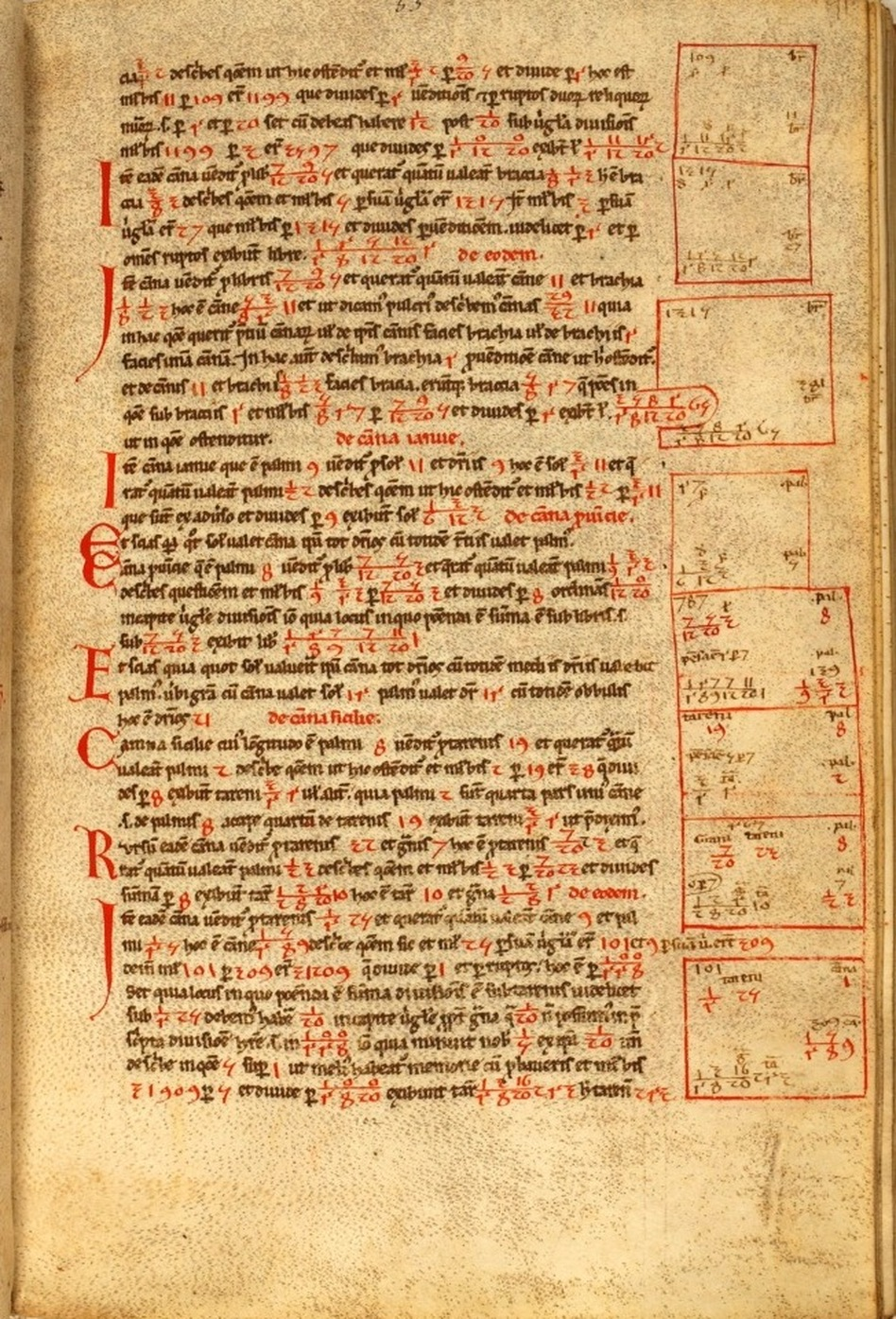 "A page from the <em>Liber Abaci </em>manuscript. Leonardo da Pisa wrote symbolic calculations in the margin to illustrate the methods described in the text. <a href=""http://media.npr.org/assets/img/2011/07/14/siena-53_enl.jpg"">Click Here For A Closer Look</a> (Siena Public Library )"