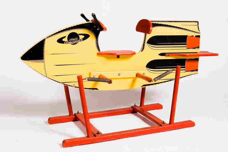 "The ""Space Commander Rocket Rider,"" made by the Delphos Bending Co. in 1953"