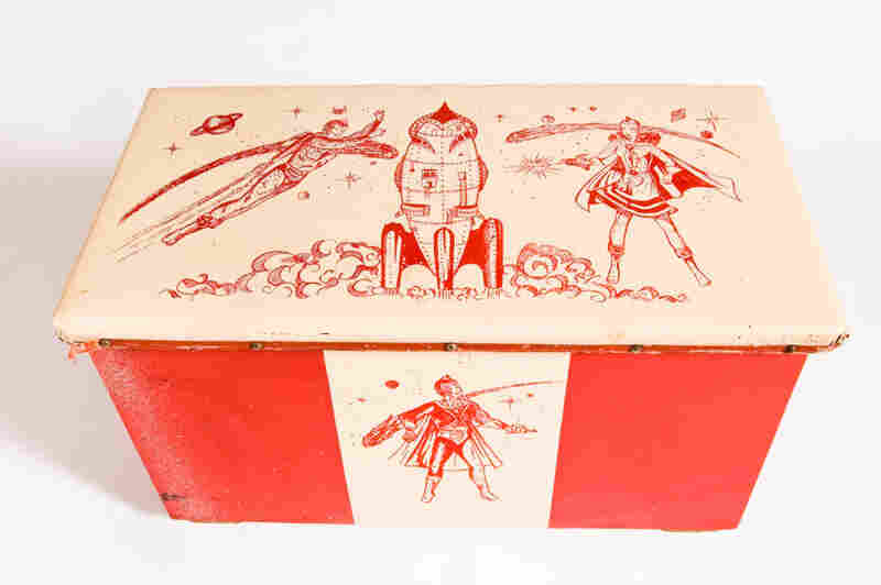 A space toy chest, circa 1950