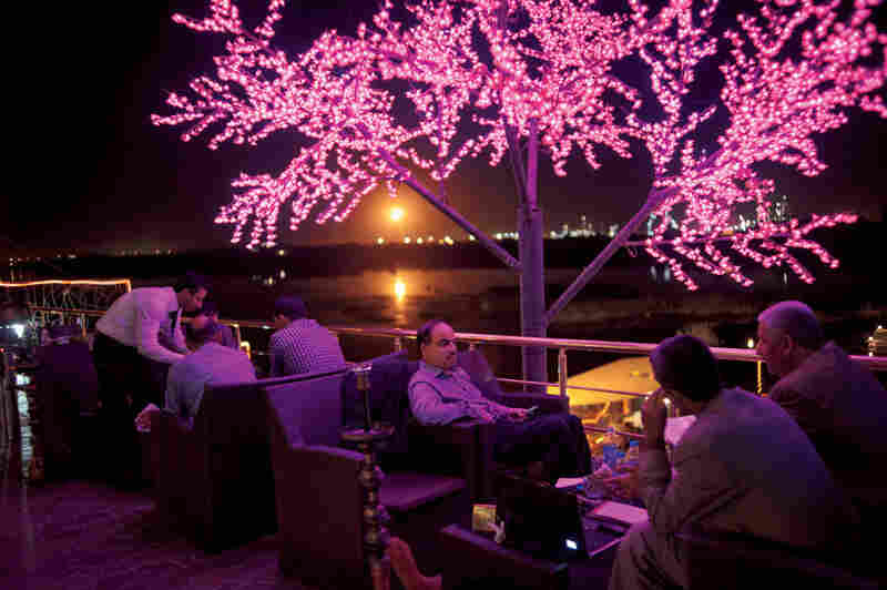 Baghdad's relative calm has lent sparkle to the city's social scene, especially for the wealthy. At a new Lebanese Club overlooking the Tigris, patrons must check any weapons at the door before enjoying nonalcoholic drinks on the terrace.