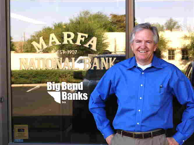 Chip Love, president of the Marfa National Bank, played a victim of Javier Bardem's psychopathic hitman in No Country For Old Men.
