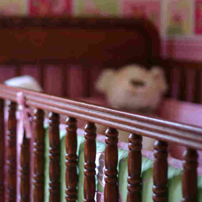 Many  cases once thought to be sudden infant death syndrome are now believed to be  accidents caused by unsafe sleep practices. The image above shows a crib with a teddy bear and bumper — items the American Academy of Pediatrics warns against putting in your baby's crib.