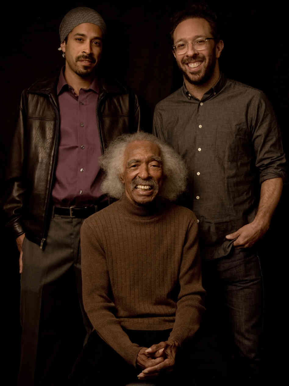 Gerald Wilson with his grandson Eric Otis (left) and son Anthony Wilson.