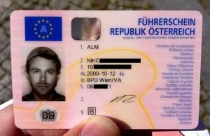 Niko Alm's driver's license.