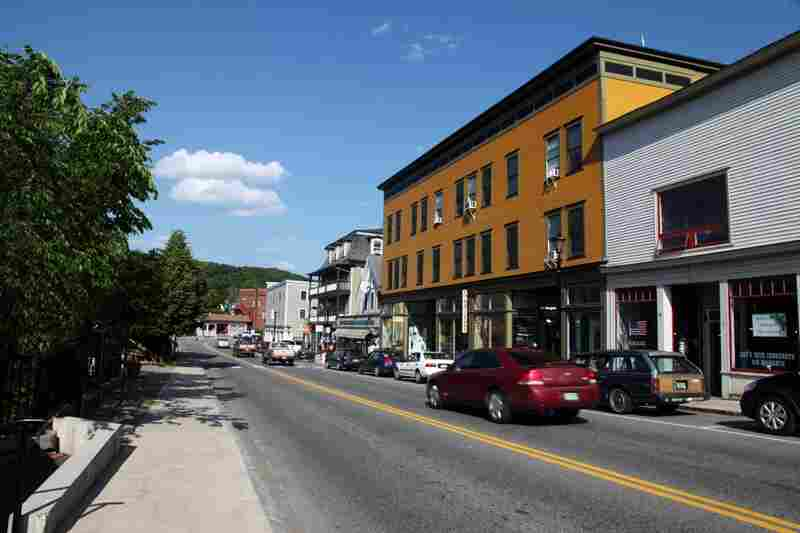 Main Street in Hardwick, Vt., a town with an unemployment rate 40 percent higher than the Vermont average.