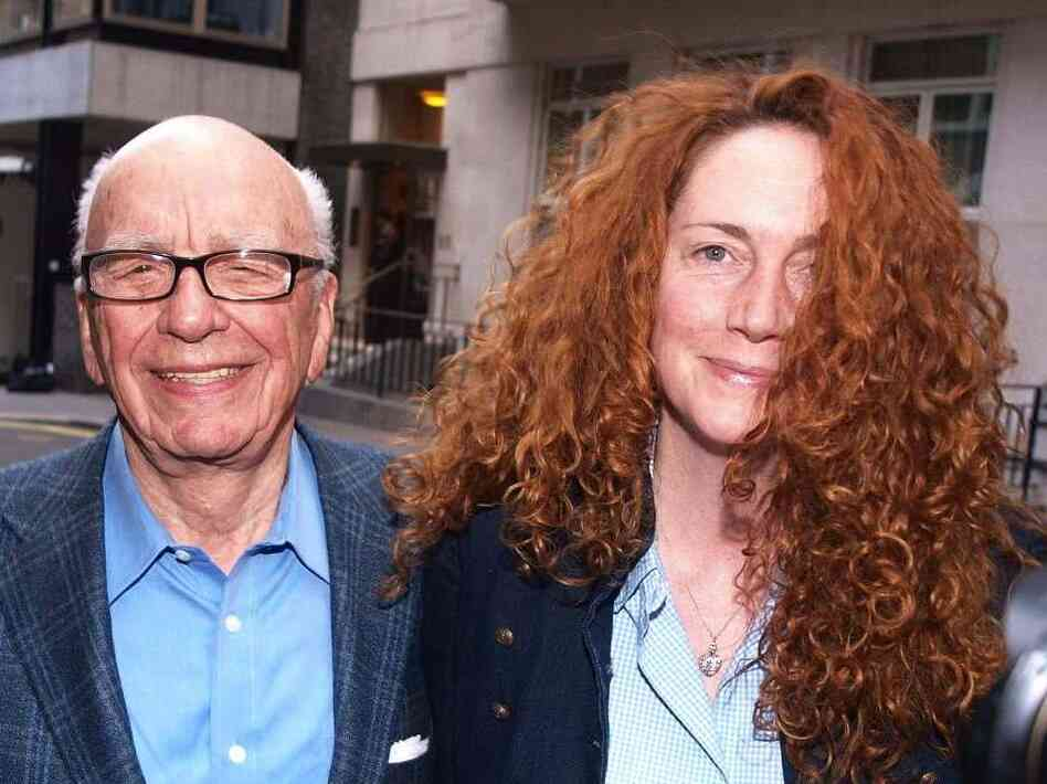 Rupert Murdoch and Rebekah Brooks in London on July 10, 2011.
