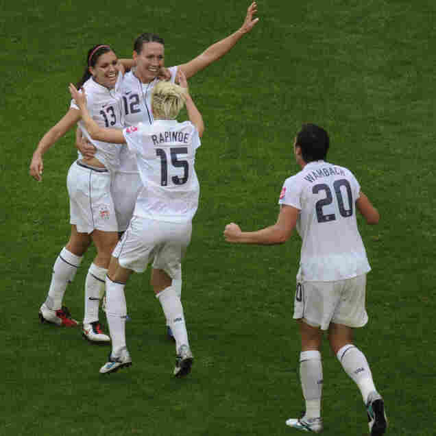 Power In Reserve: Strikers Alex Morgan (second from left) and Lauren Cheney have added firepower to the U.S. lineup, while midfielder Megan Rapinoe has adjusted to coming in off the bench to energize the American attack — and set up goals for Abby Wambach.