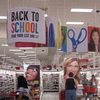 Back-to-school banners greet shoppers at a Target store in Columbia, Md.