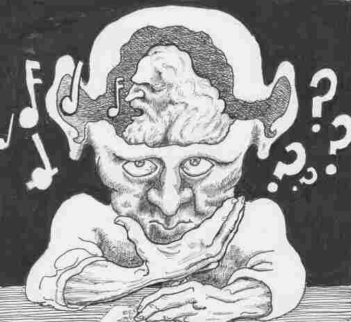 An artist's illustration of tinnitus.