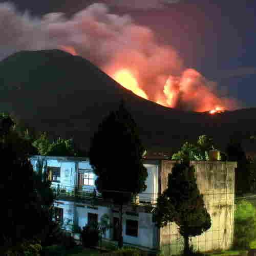 The Lokon volcano