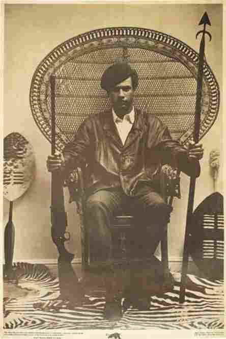 Poster Of Huey Newton, Black Panther Minister Of Defense, 1968