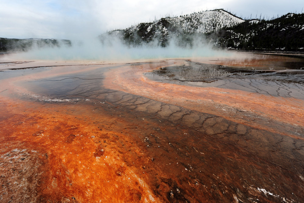 The Grand Prismatic hot spring
