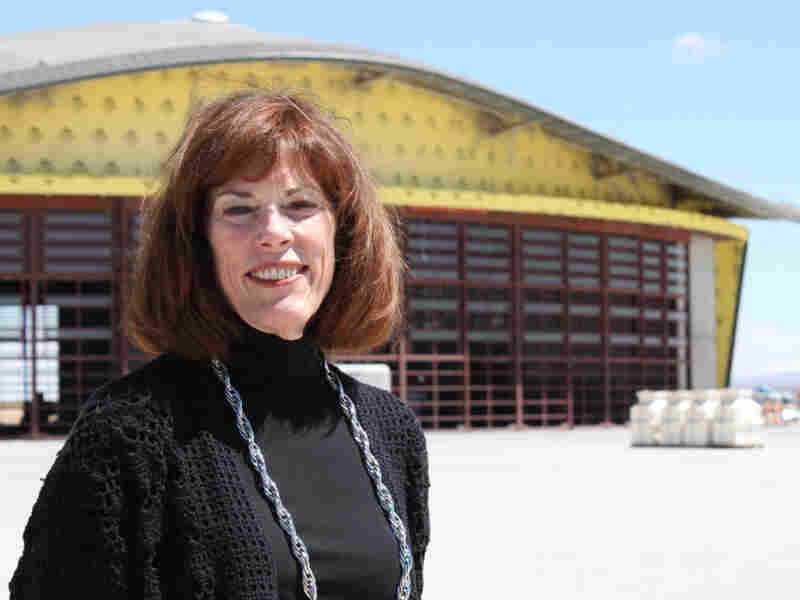 New Mexico Spaceport Authority executive director Christine Andersen believes if you build a spaceport, the tourists will come.