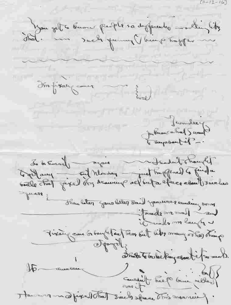 Letter by Georgia O'Keeffe, Nov. 12, 1916.