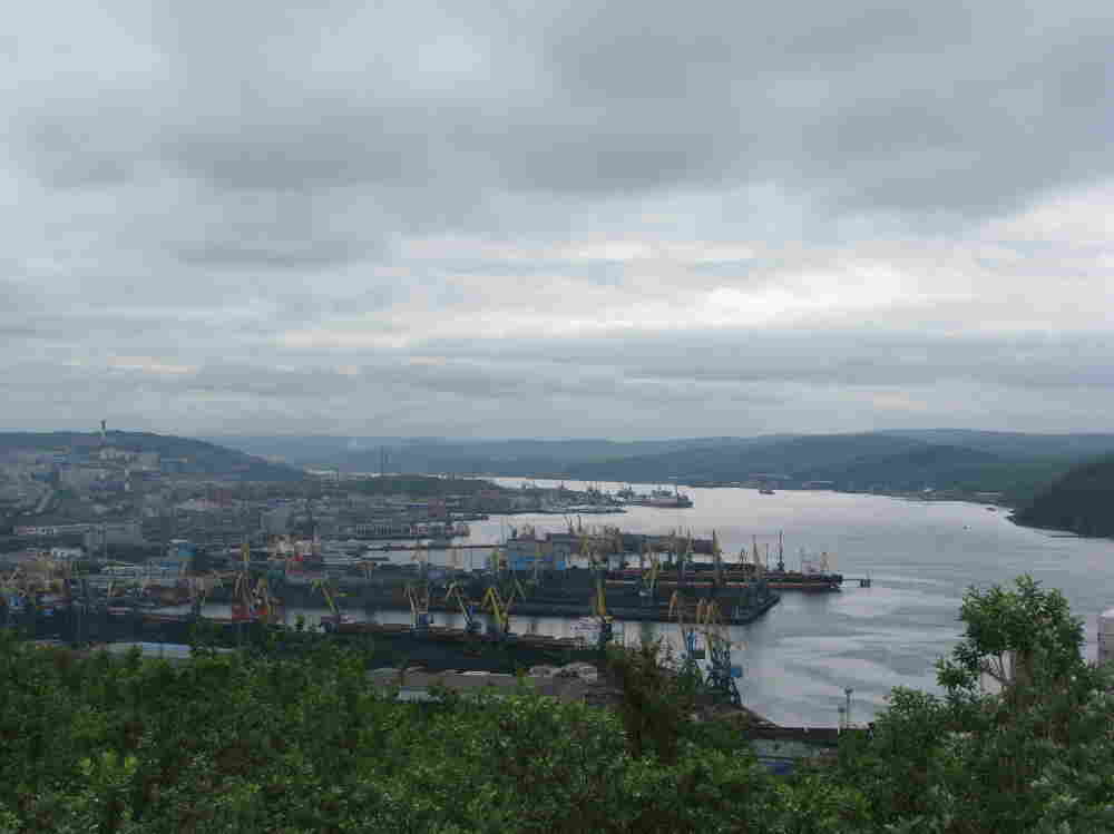 Murmansk, above the Arctic Circle.