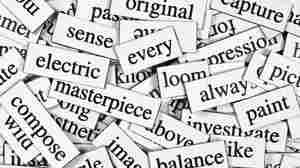 A collage of magnet words.