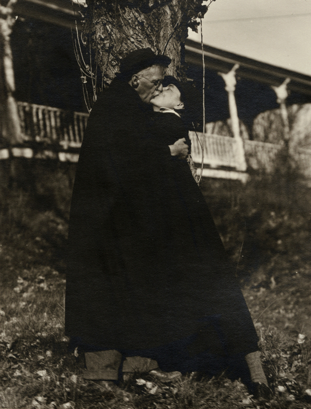 "Alfred Stieglitz attached this photograph to a letter for Georgia O'Keeffe, dated July 10, 1929. Below the photograph he wrote, ""I have destroyed 300 prints to-day. And much more literature. I haven't the heart to destroy this..."""