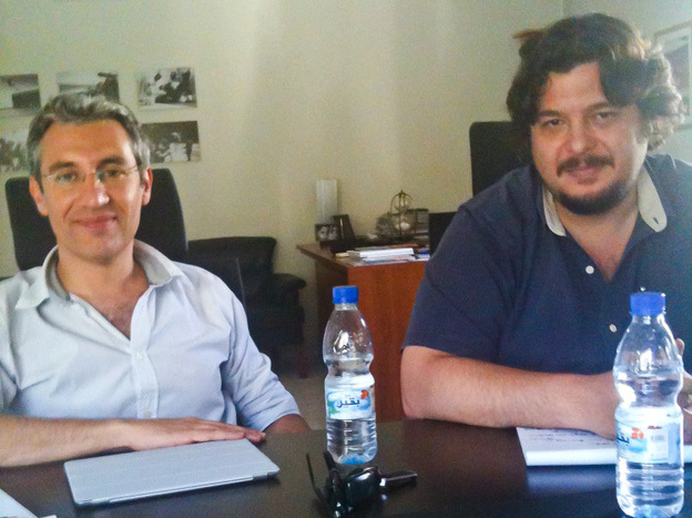 Ammar Alani (left) and Rami Omran created an advertising campaign in Syria with the help of friends in the media business, to call for a middle-ground solution to the ongoing crisis.