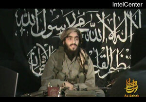 This image provided by IntelCenter on Feb. 28, 2010, shows Humam Khalil Abu-Mulal al-Balawi in a posthumous video message posted on extremist websites. The al-Qaida double agent killed seven CIA operatives when he set off the 30-pound bomb strapped to his body at a fortified base in Afghanistan near the Pakistani border in December 2009.