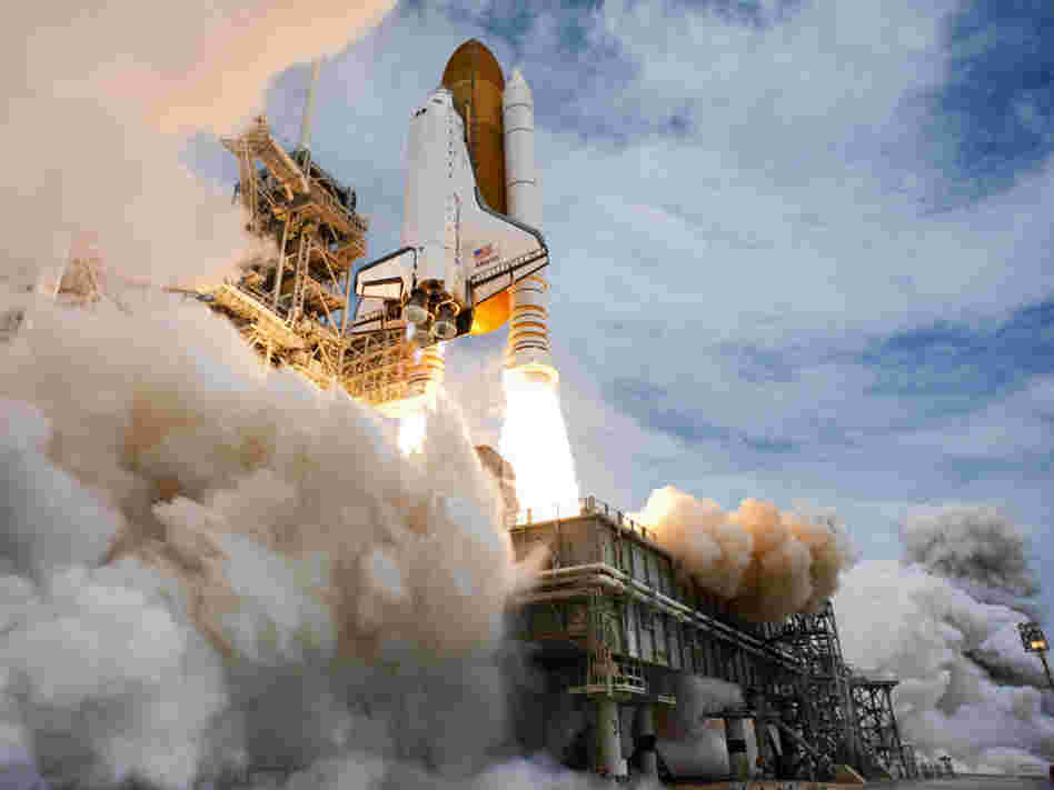 Atlantis lifts off from Kennedy Space Center on its final flight on July 8. There are plans for a next-generation space vehicle, but some space experts aren't sure if the vehicle will ever be completed.