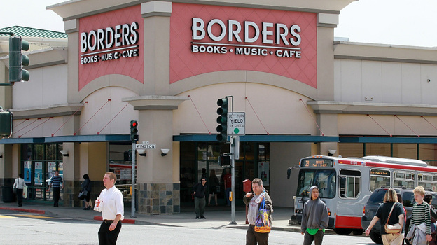 Borders Group Inc., the nation's second-largest bookstore chain, announced that it will liquidate the company. (Getty Images)