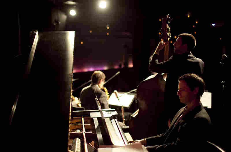 Pianist Adam Birnbaum with Pedro Giraudo.