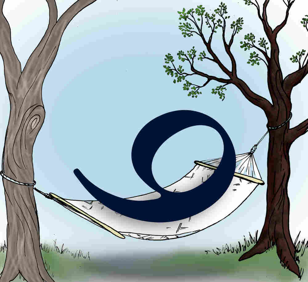 Nine in a hammock.