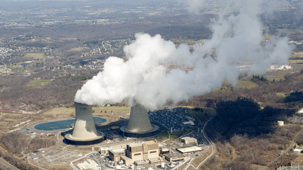 The U.S. Nuclear Regulatory Commission says American nuclear plants need to be better prepared for the sudden and continued loss of electric power. Above, the Limerick Generating Station, a nuclear power plant in Pottstown, Pa. (AFP/Getty Images)