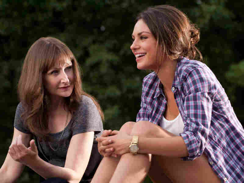 Lorna (Patricia Clarkson, left), Jamie's loose-cannon mother, dispenses sexual advice of a comically inappropriate nature to her daughter. The supporting cast also includes Woody Harrelson as Dylan's gay best friend.