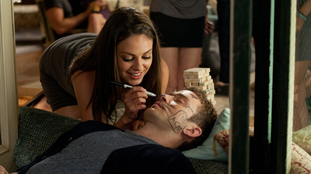 A Fun, Sexy Time: Jamie (Mila Kunis) and Dylan (Justin Timberlake) both enjoy having sex with each other, but without the messy relationship stuff that so often gets in the way of the romantic comedies they watch together. They naively believe their titular arrangement will solve their problems.