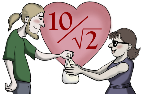 "10/root(2) means ""I love you."""