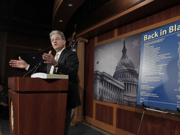Republican Sen. Tom Coburn unveiled his own deficit reduction ideas a day before publicly rejoining the bipartisan Gang of Six.