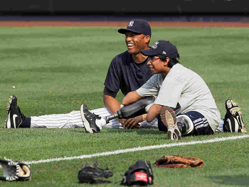 At last year's HOPE Week, pitcher Mariano Rivera warmed up with Jorge Grajales before the New York Yankees played the Detroit Tigers. Grajales threw out the game's first pitch.
