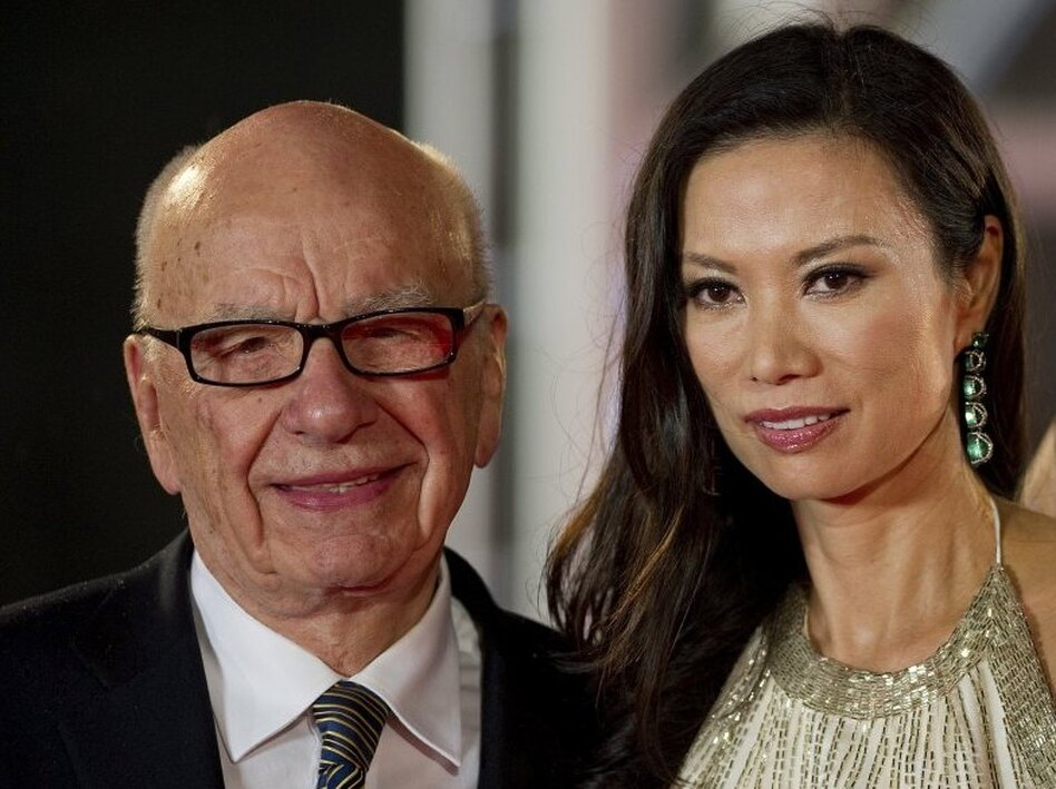 June 11, 2011, file photo: Rupert and Wendi Deng Murdoch at the Shanghai International Film Festival.