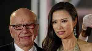 June 11, 2011, file photo: Rupert and Wendi Deng Murdoch at the