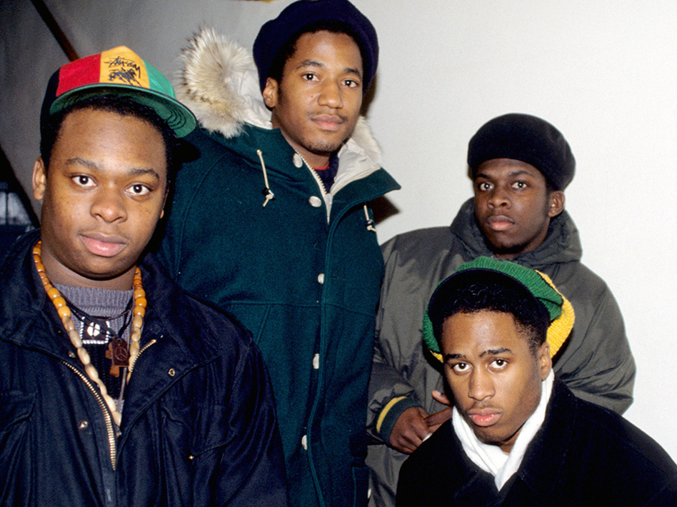 A Tribe Called Quest in the early days. From left to right, Jarobi White, Q-Tip, Ali Shaheed Muhammad and Phife Dawg.