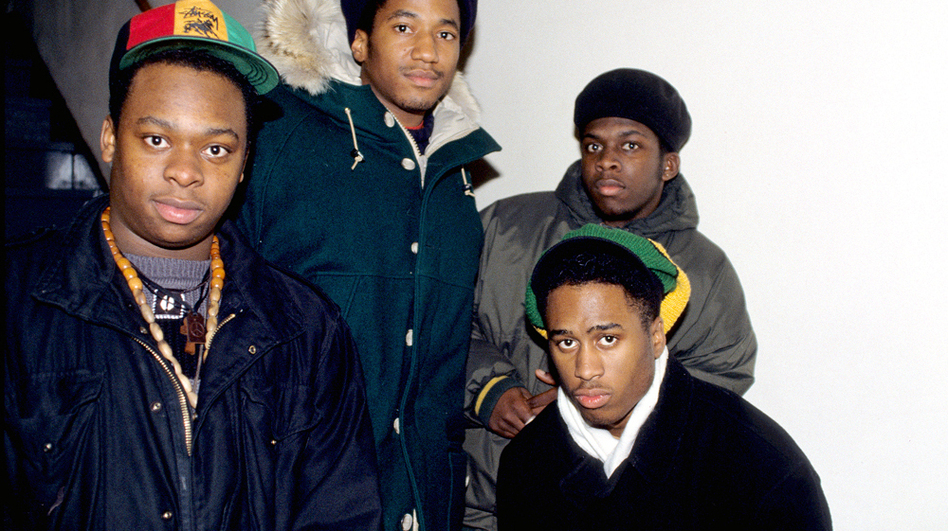 A Tribe Called Quest in the early days. From left to right, Jarobi White, Q-Tip, Ali Shaheed Muhammad and Phife Dawg. (Courtesy of Sony Pictures Classics)