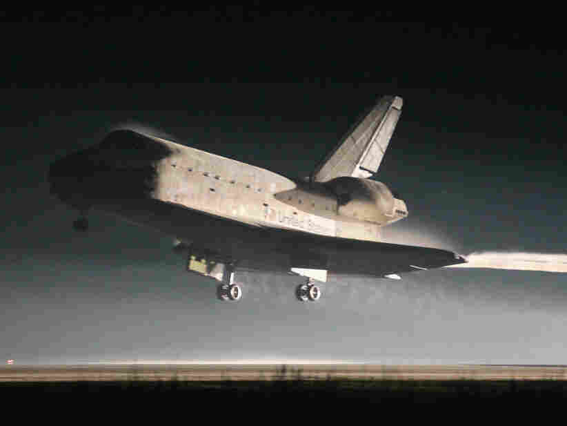 Space Shuttle Landing Space Shuttle Atlantis Lands