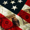 Dollar Bill across American Flag