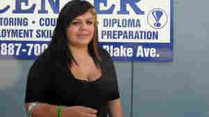Lauren Ortega, 20, has two young kids and is struggling to finish her GED.