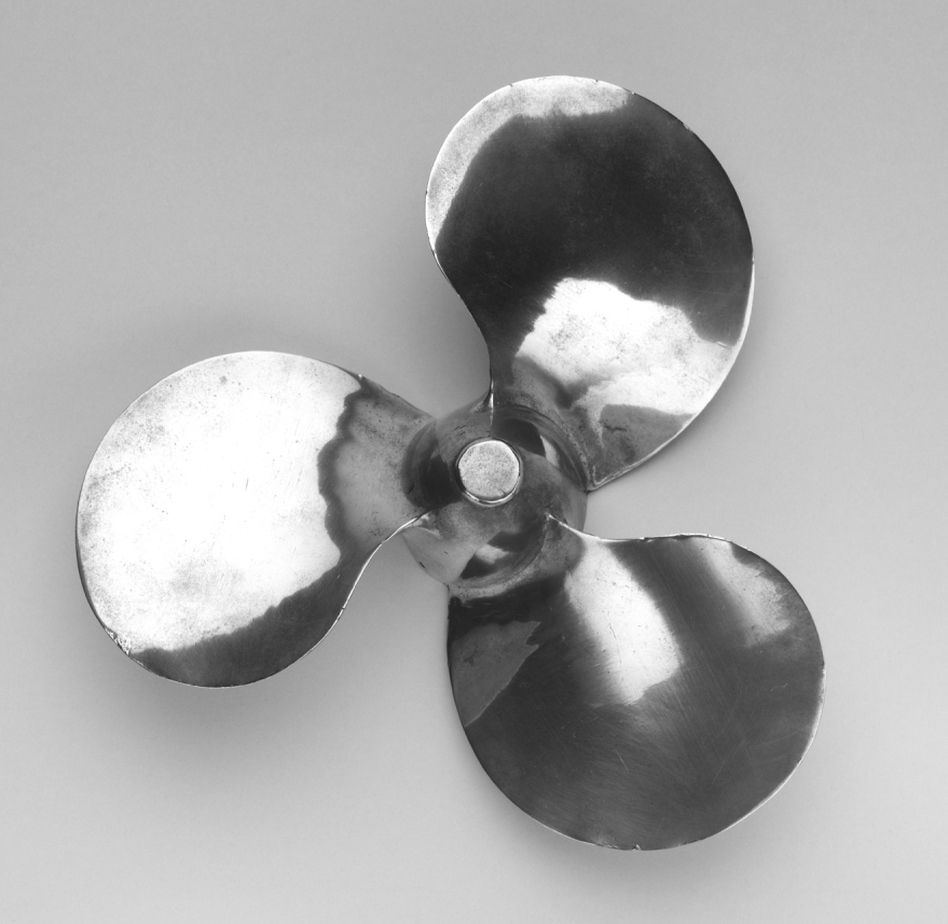 Outboard Propeller, by Aluminum Company of America was also featured in MoMA's 1934 show. (Courtesy of MoMA)