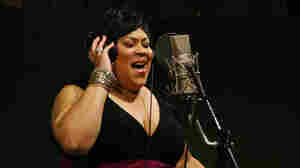 "Martha Wash sings her classic ""It's Raining Men"" at NPR headquarters in Washington, D.C., on July 20."