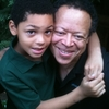 Steven Barnes poses with his son, Jason.