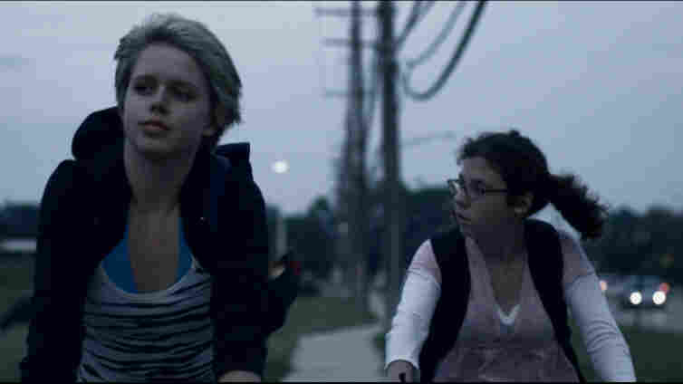 Claire Sloma (left) and Annette DeNoyer are teenagers yearning for something more in The Myth Of The American Sleepover, a film that yearns to be something more, as well.